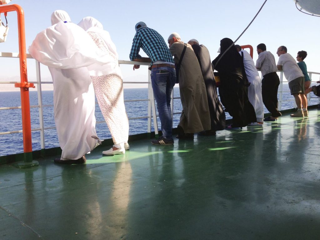 Some of the wonderful people I met on the ferry to Aqaba.
