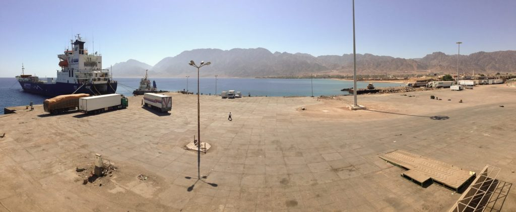 The ferry terminal in Nuweiba, Egypt
