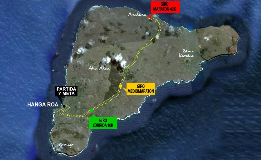 The Easter Island Marathon (and other races) route.