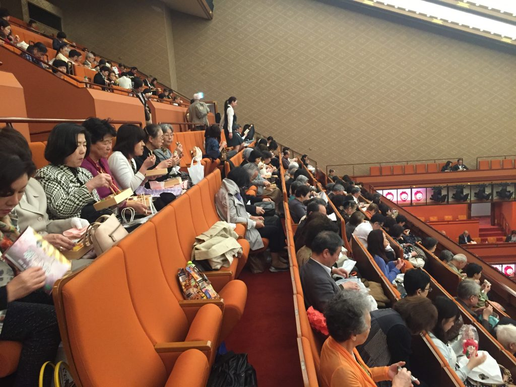 Kabuki theater in Tokyo - audience