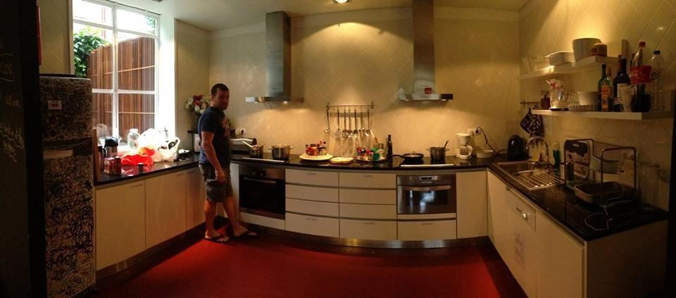 Porto, Portugal. Hostels often have full kitchens
