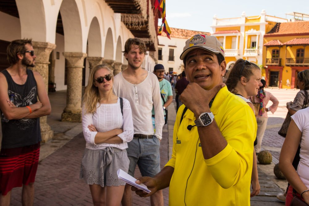 Cartagena Colombia travel tips: Our free walking tour guide, Edgar