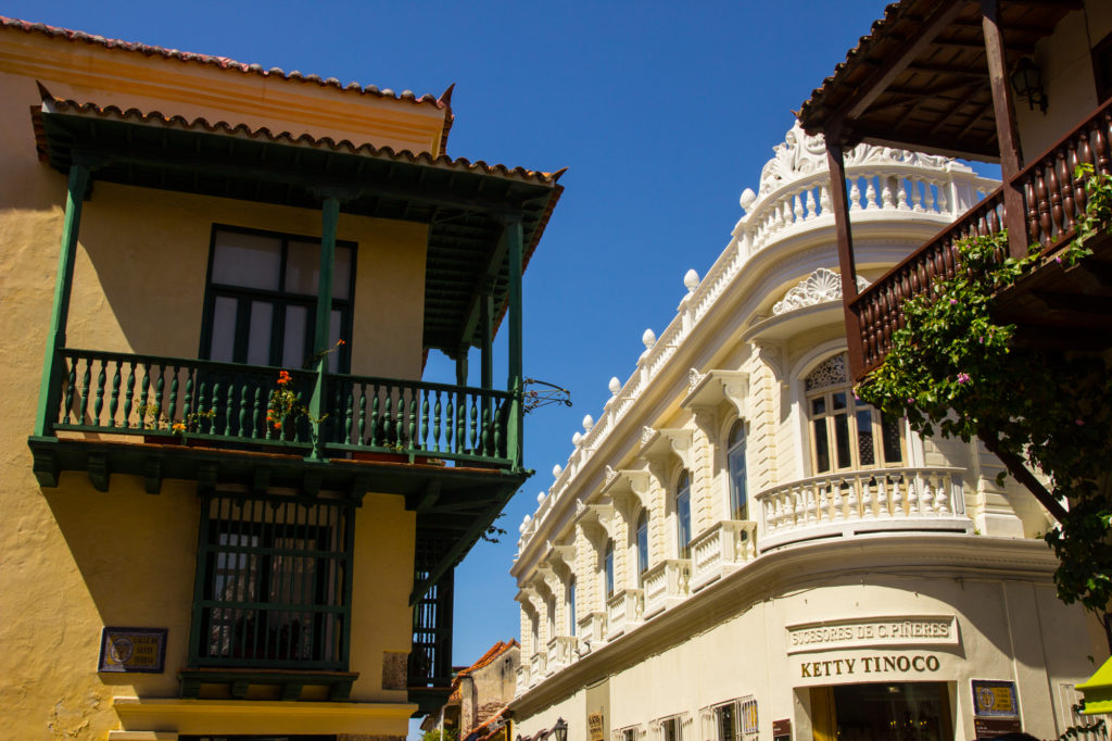 Balconies in two distinct styles