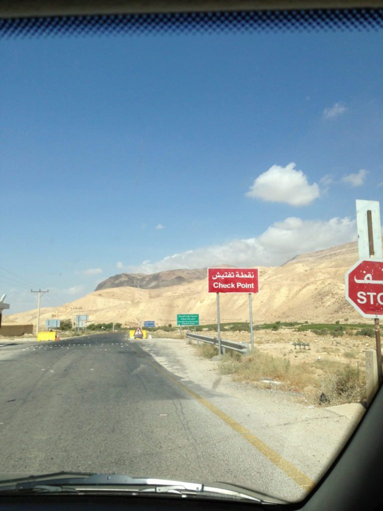 Jordan Car Rental: A Check Point in Jordan is an intimidating stop.