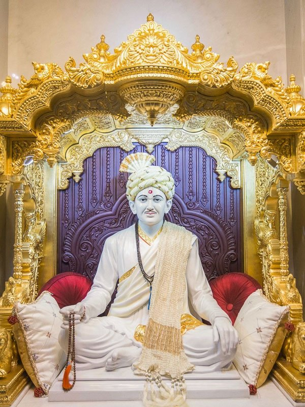 One of the Gurus at BAPS Atlanta - Brahmaswarup Bhagatji Maharaj. Michael's favorite. He is the only one not wearing saffron colored robes.