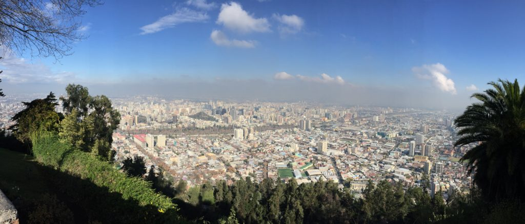 Photo of Santiago from above