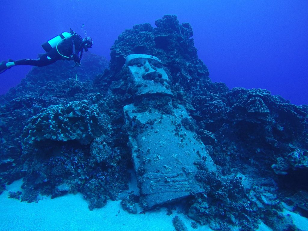 UNderwater moai head