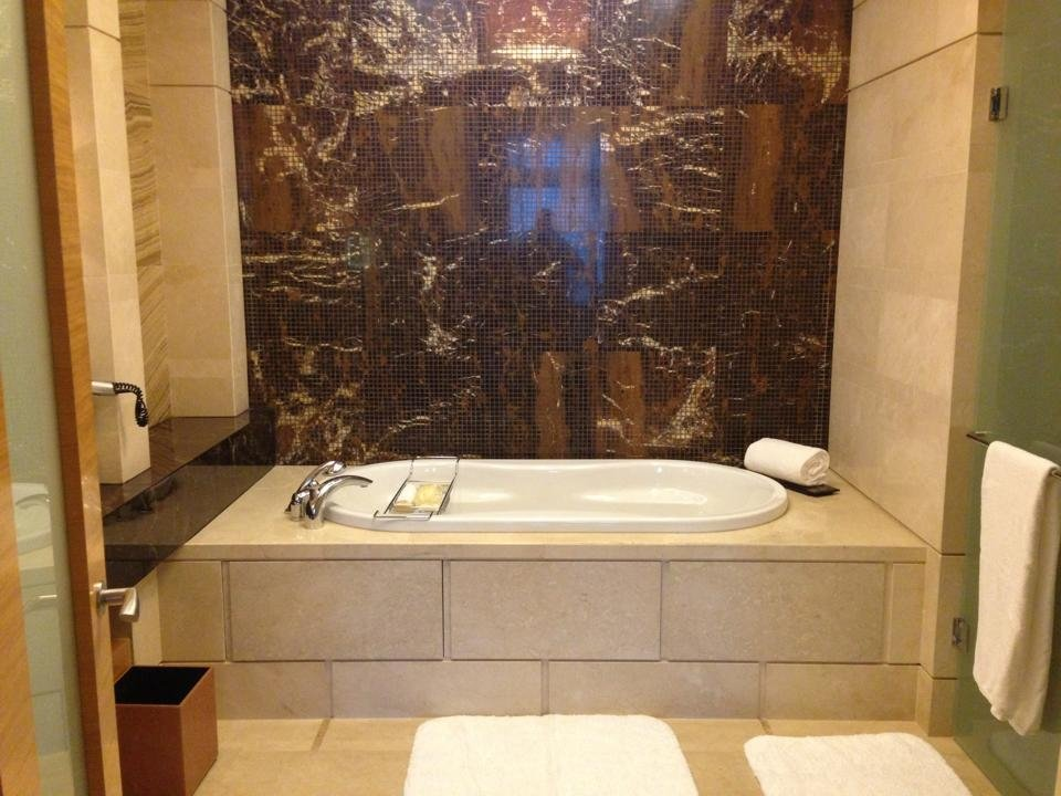 The tub, in one of two bathrooms in our suite