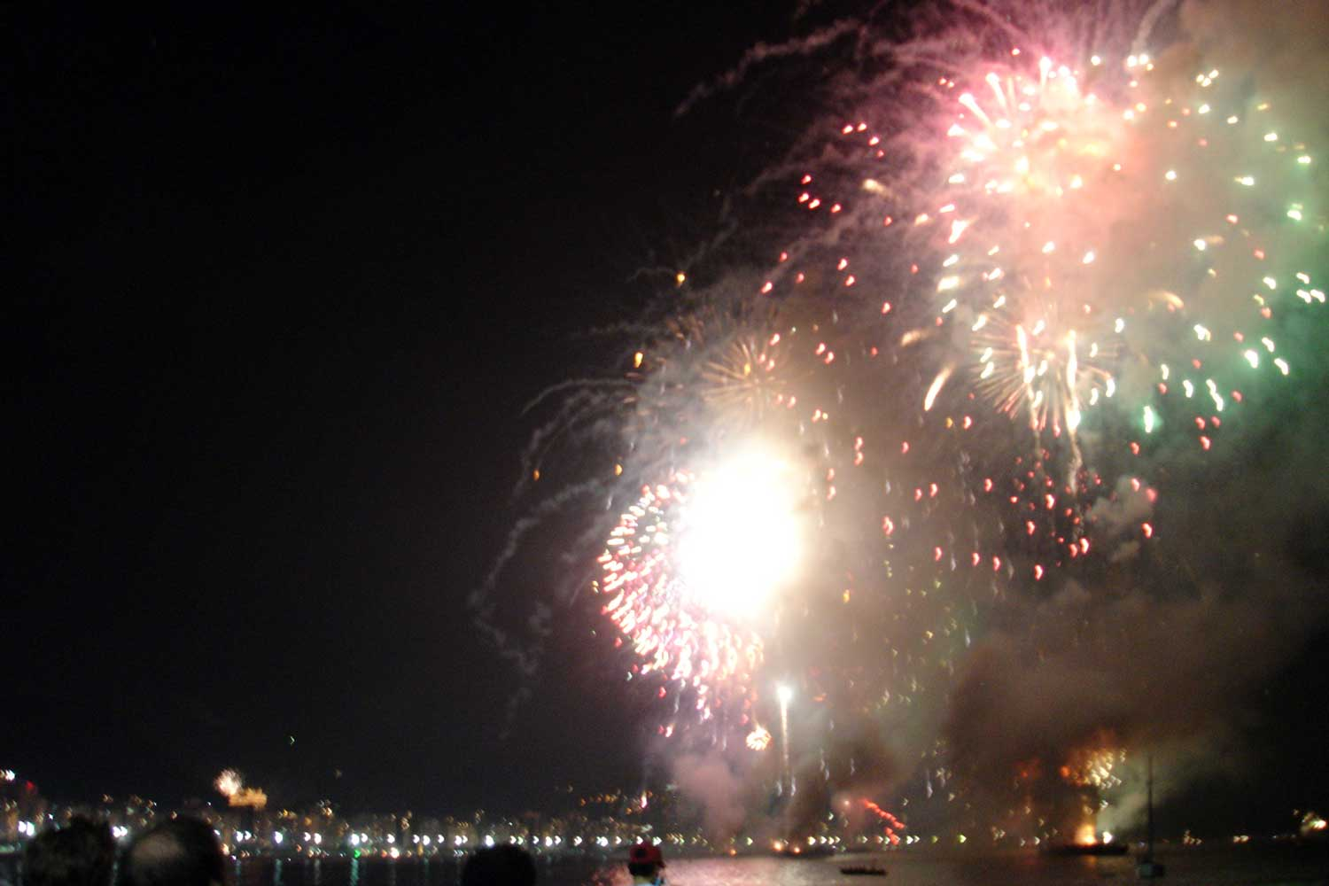 Brazilian New Year's Eve fireworks in Rio