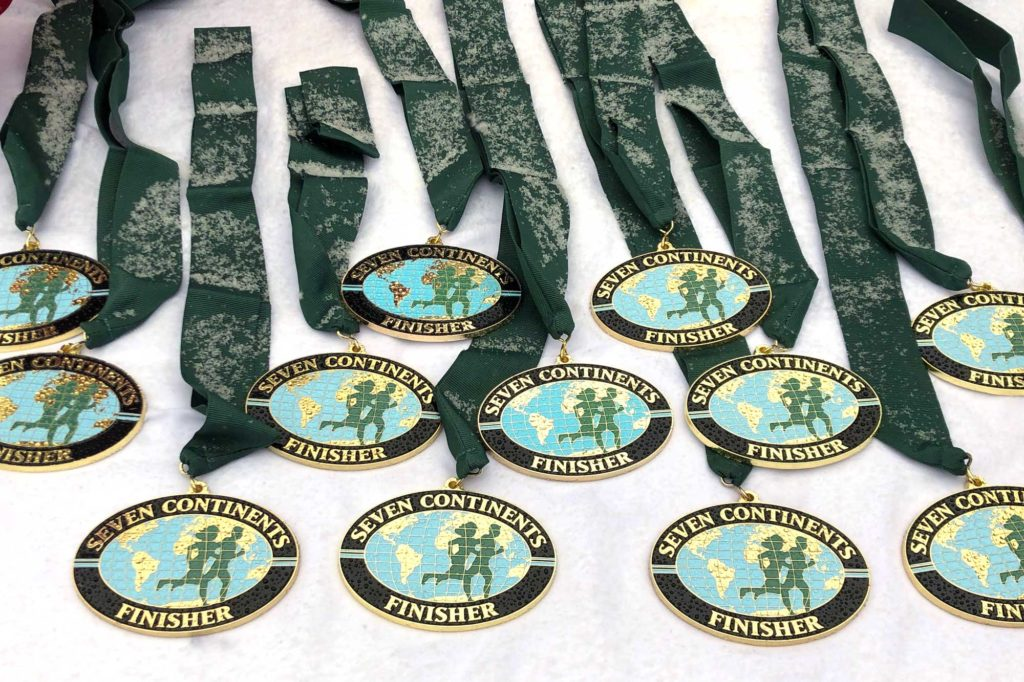 Official Seven Continents Club medals