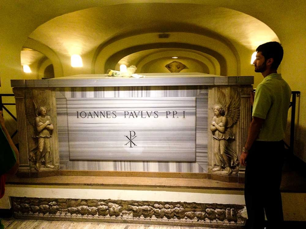 Vatican City Scavi Tour - the crypt of John Paul 1