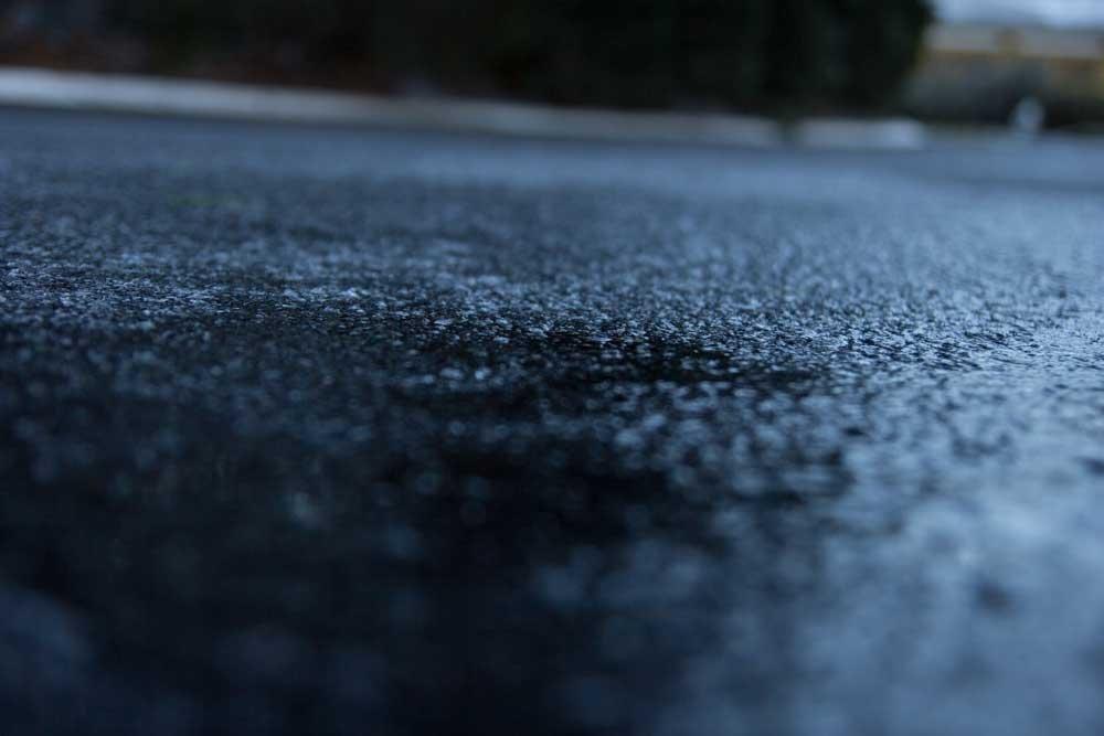 Atlanta winter storm - Black ice on the road