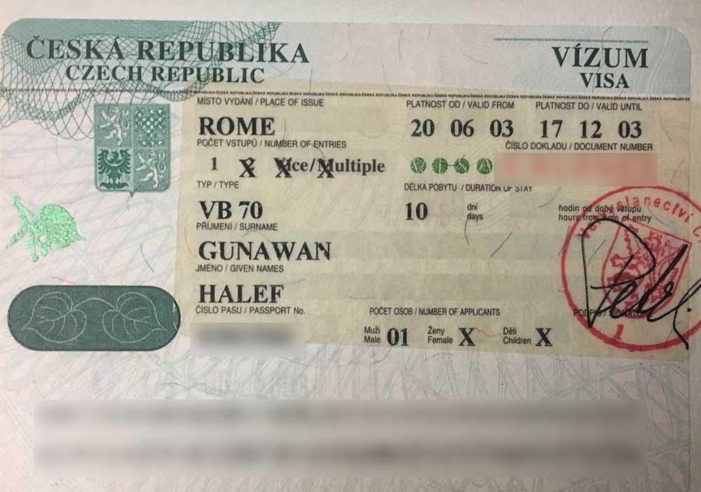 Applying for a visa - Czech Republic visitor visa