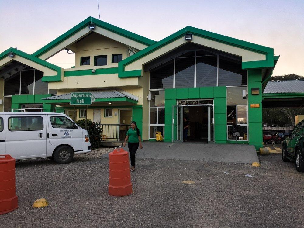 Belize City to Tikal - Belize immigration house