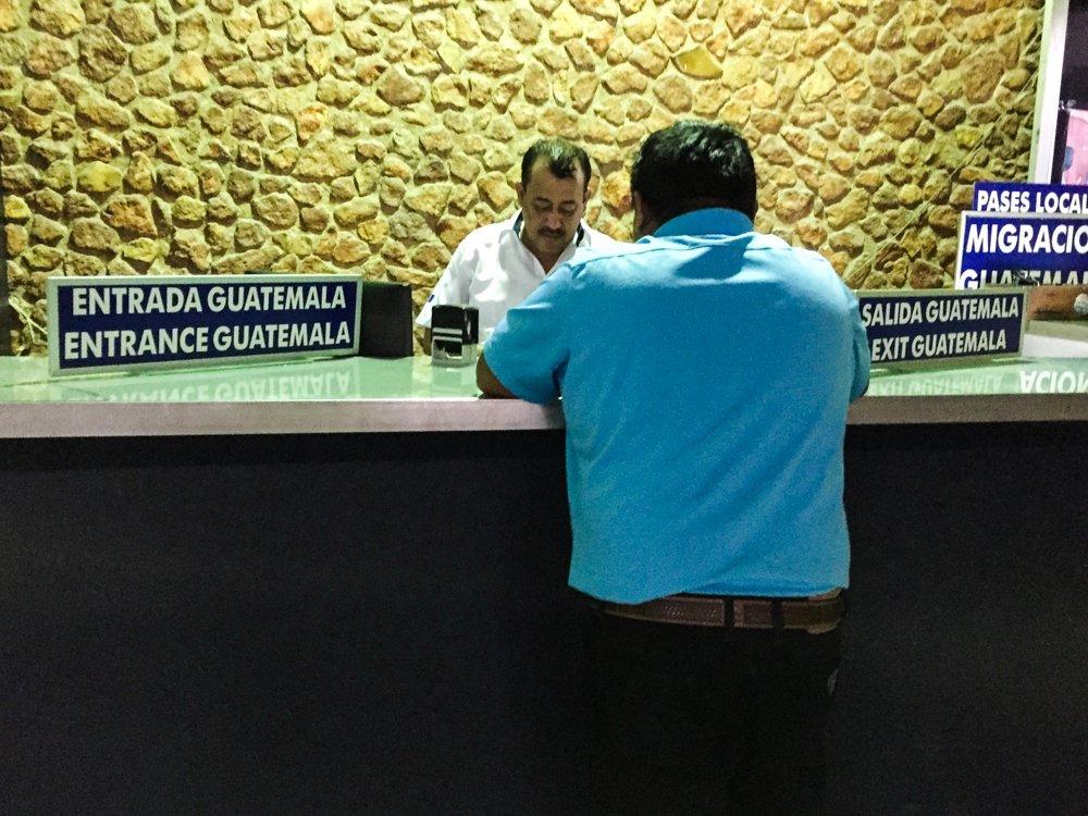 Belize City to Tikal - getting passport stamp