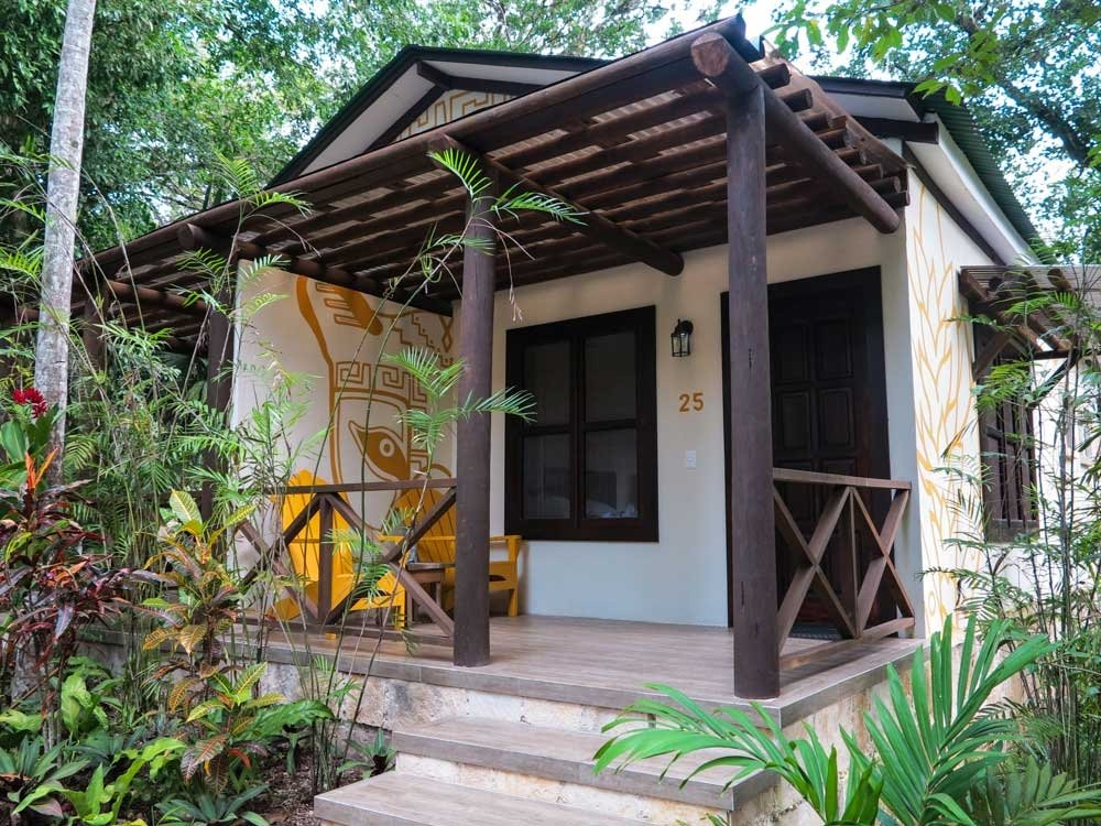 Bungalow at jungle lodge hotel