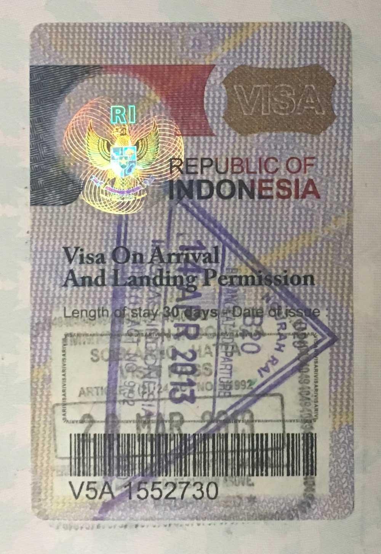 Applying for a visa - Indonesian visitor visa