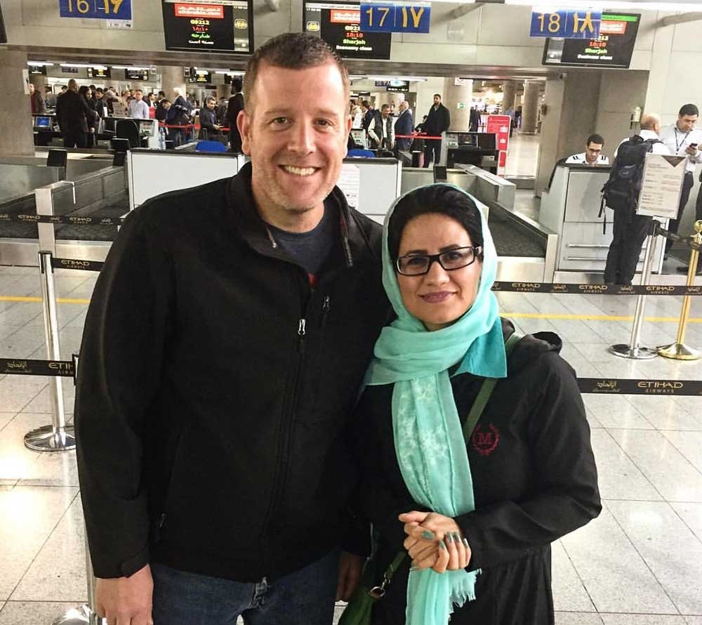 Things To Know Before You Go To Iran - Michael and an Iranian woman
