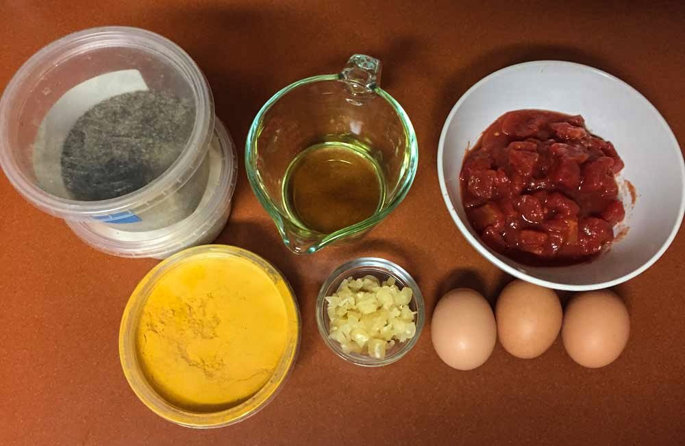 how to make mirza ghasemi - Ingredients