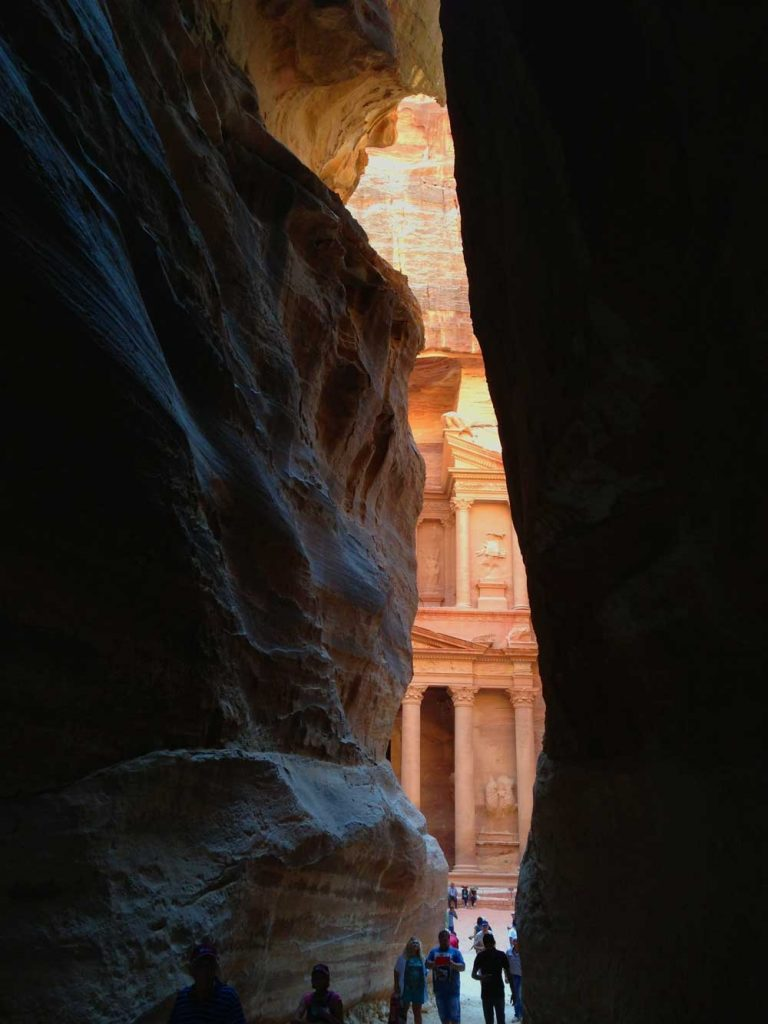 Highlights of Petra - The end of Siq