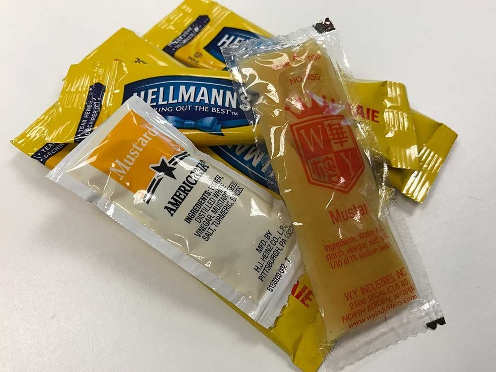 Travel scams - condiment packets