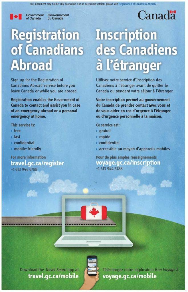 travel registration- Registration of Canadians Abroad