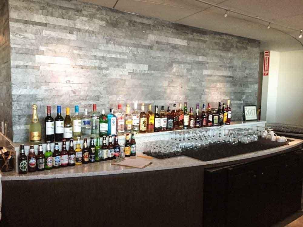 Selection of liquor at the bar at the club at atl