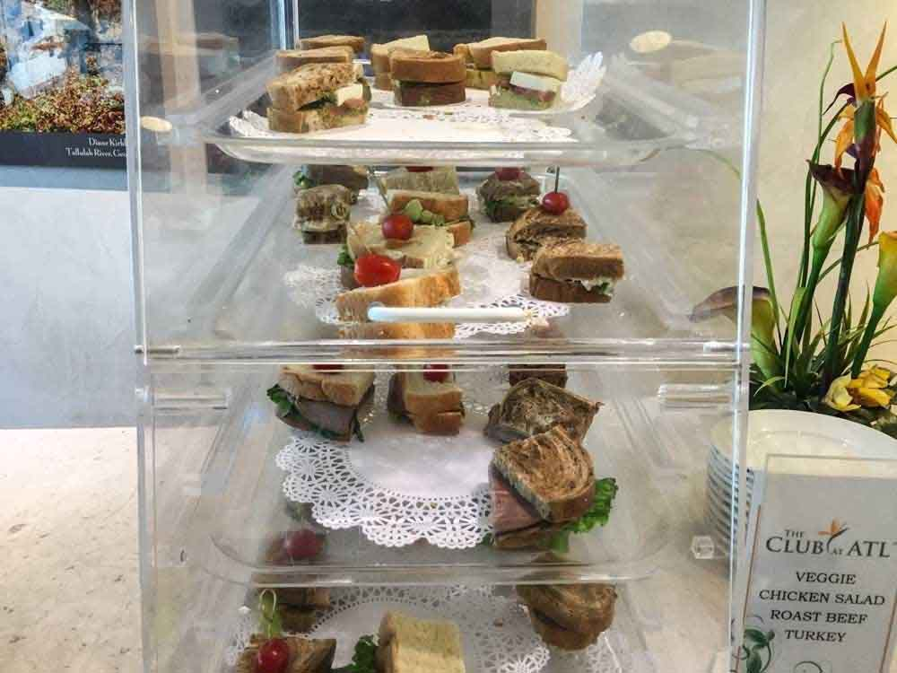 Sandwich selection at the club at atl
