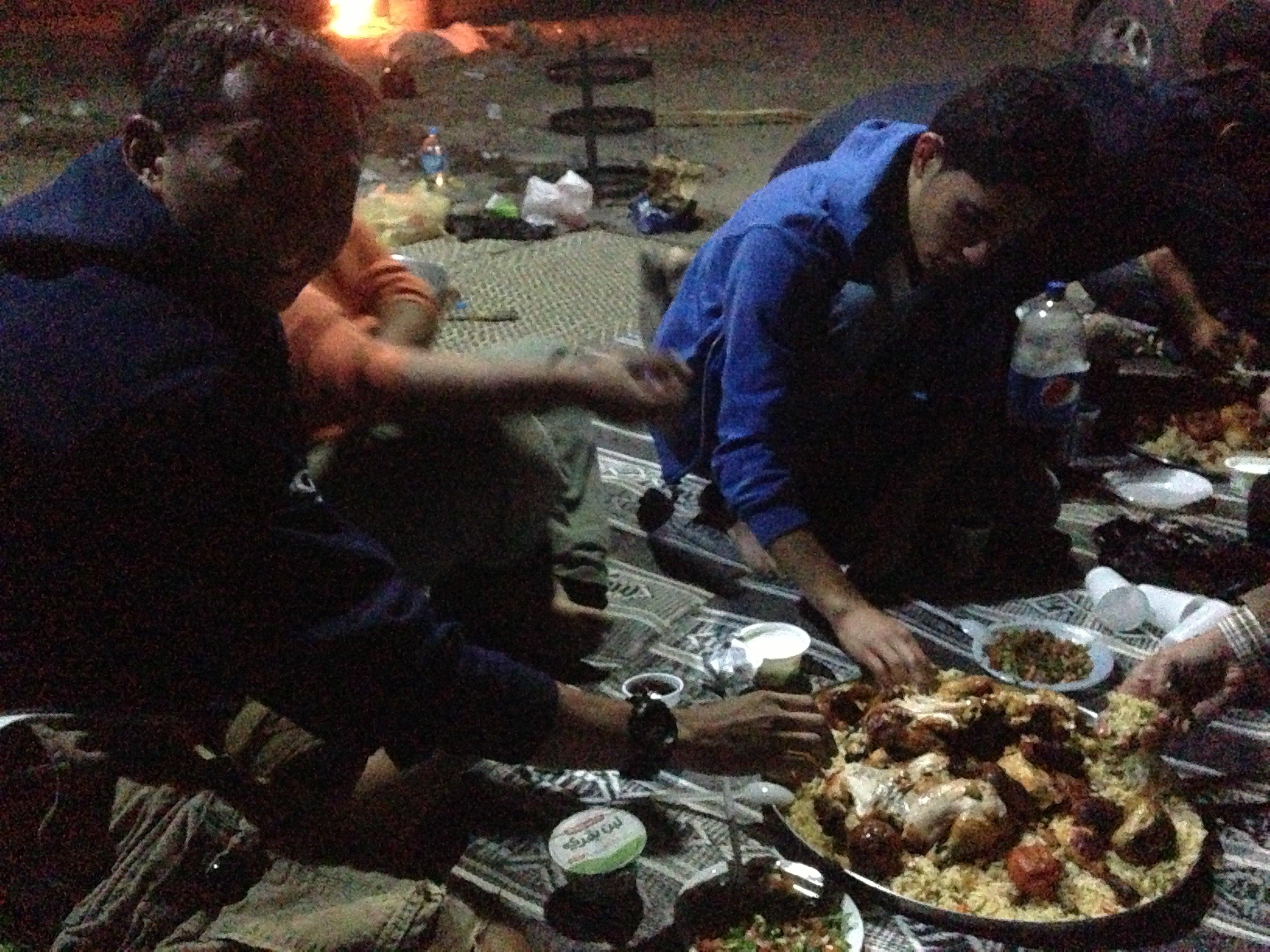 Food - in the desert in Petra, Jordan
