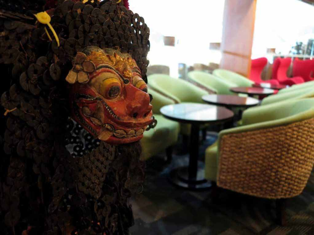 a typical Bali mask.