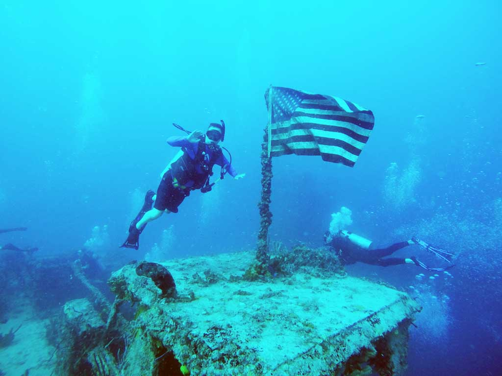 Diving in Key Largo on the USS Spiegel Grove