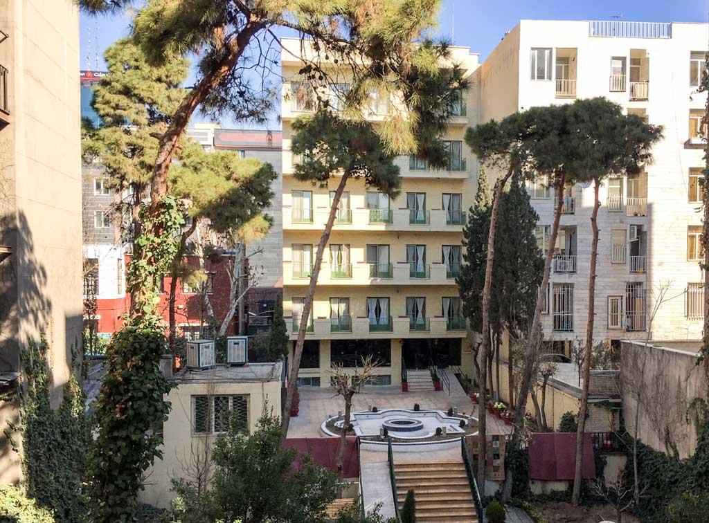 Fardis hotel Tehran - view from my room