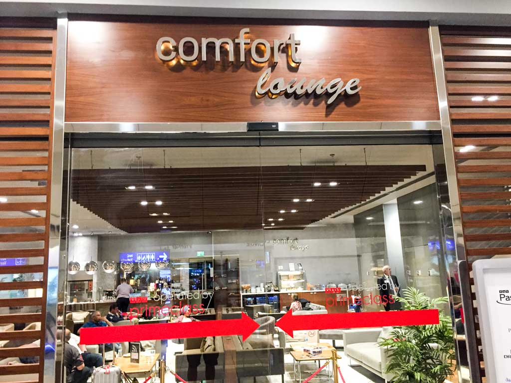 comfort lounge entrance
