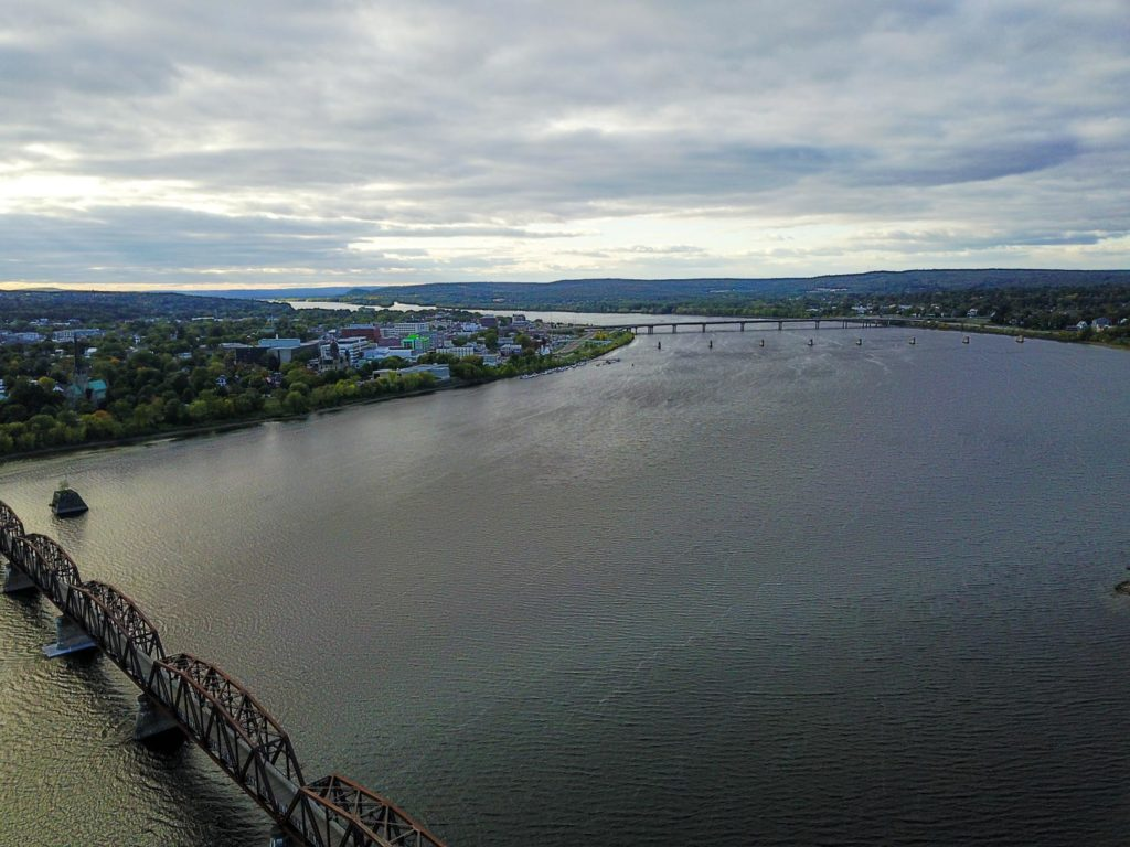 Drone's eye view of Fredericton