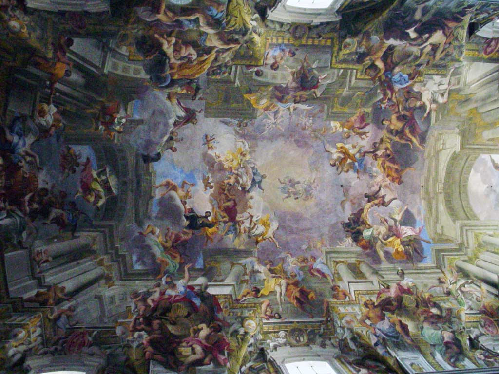 False perspective on Sant'Ignazio ceiling