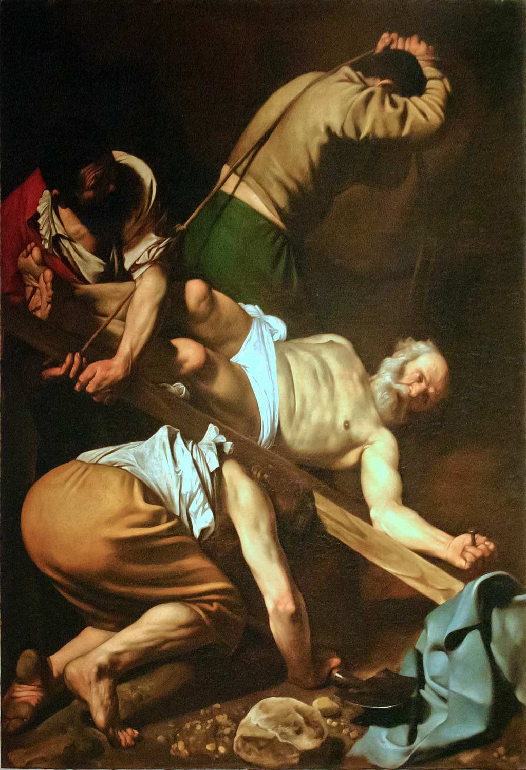 Caravaggio's Crucifixion of St. Peter