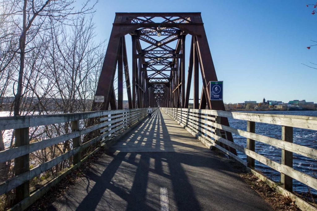 Things to do in Fredericton: Bill Thorpe Walking Bridge