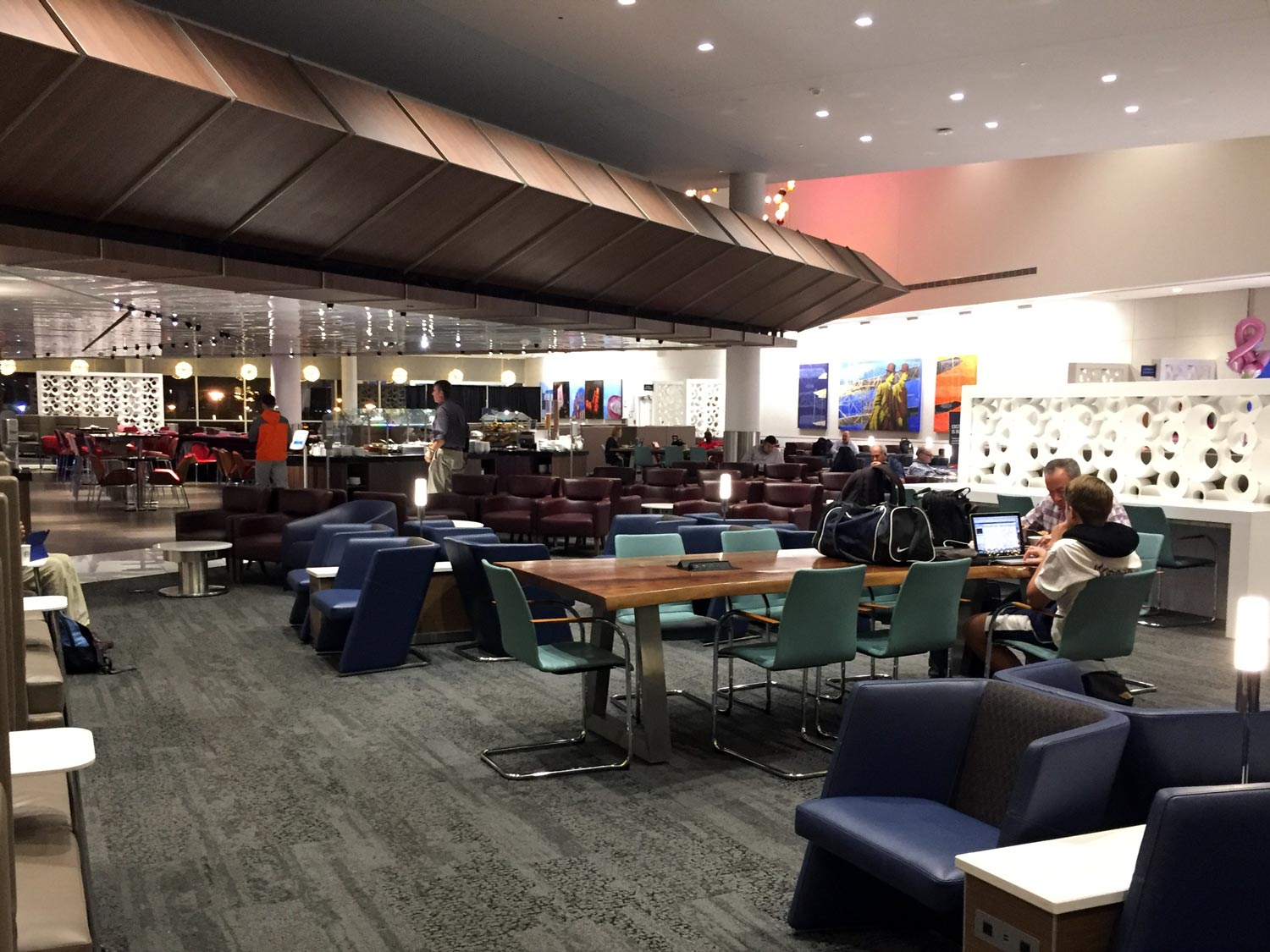Concourse B Delta Sky Club seating area