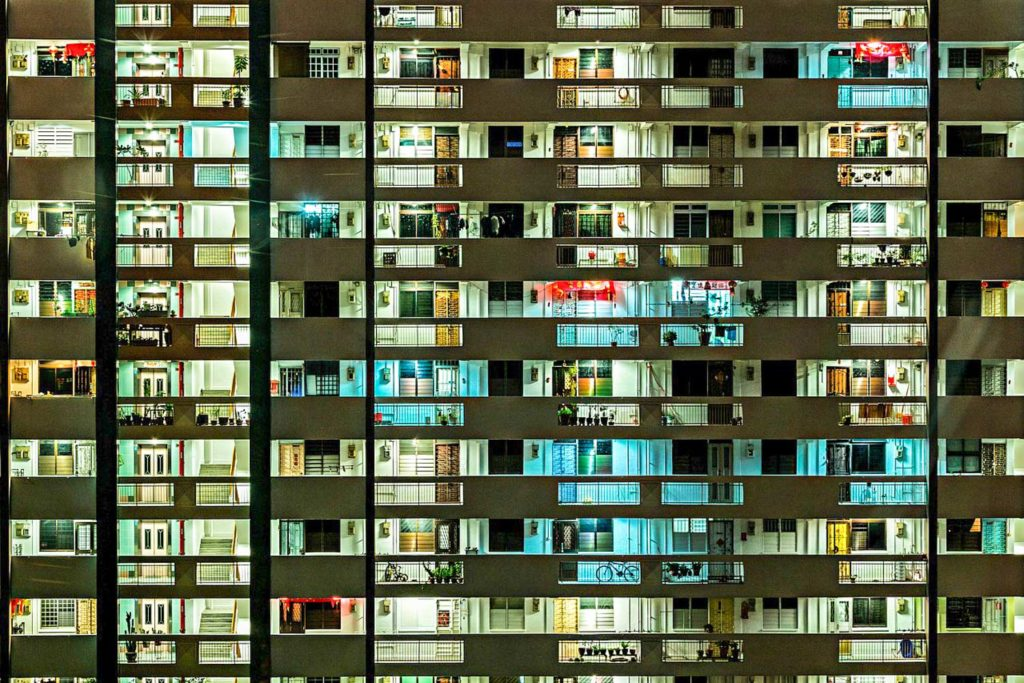 S Singapore apartment building