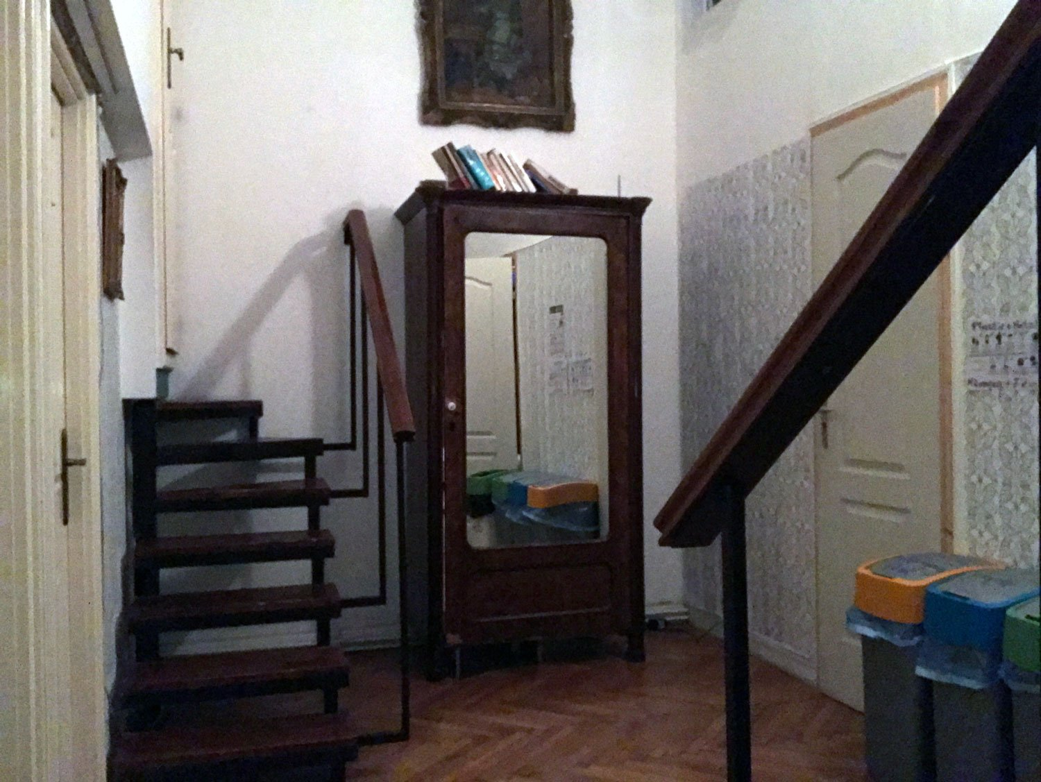baroque hostel budapest false door cabinet