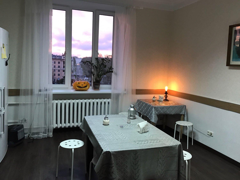 dreamy castle hostel minsk dining kitchen