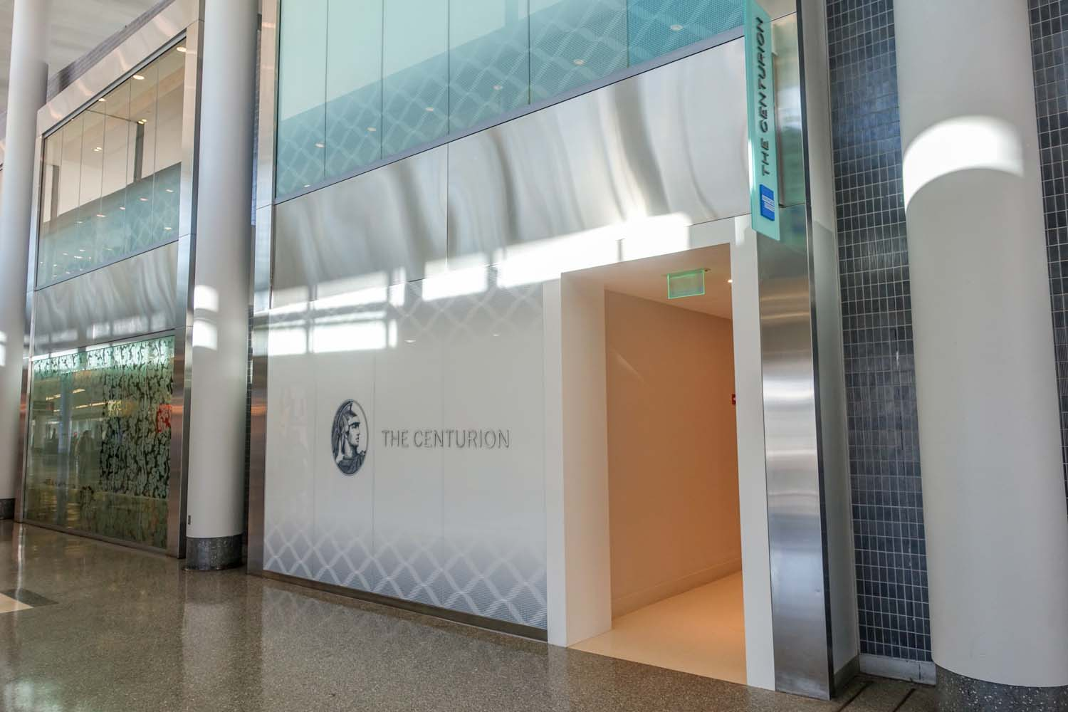 The entrance to the Centurion Lounge PHL International Airport