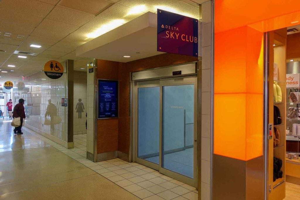 The entrance to the PHL Delta Sky Club