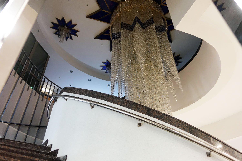 hotel belarus minsk staircase chandelier