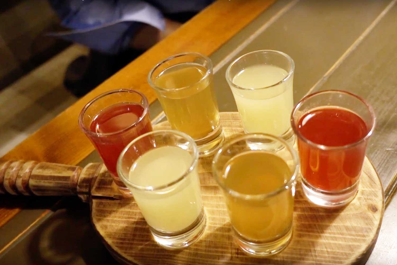 Belarus Food in Minsk Restaurants - valsiki alcoholic drink
