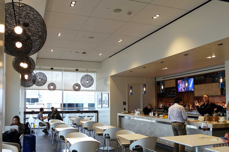 Centurion Lounge Seattle bar area