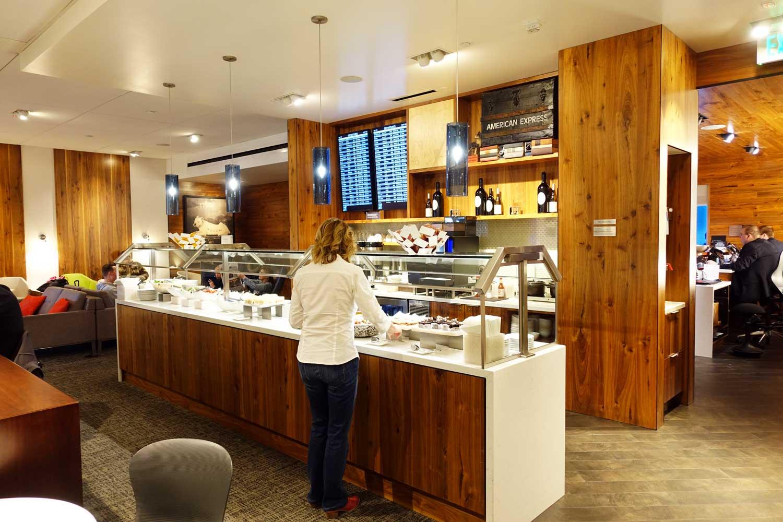 Centurion Lounge Seattle food