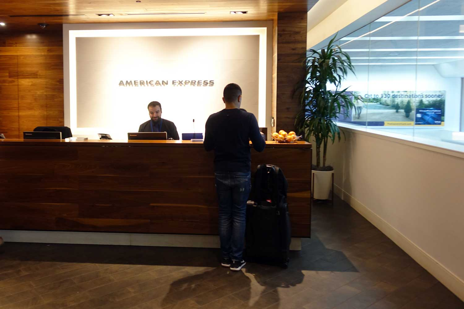 Centurion Lounge SFO check in desk