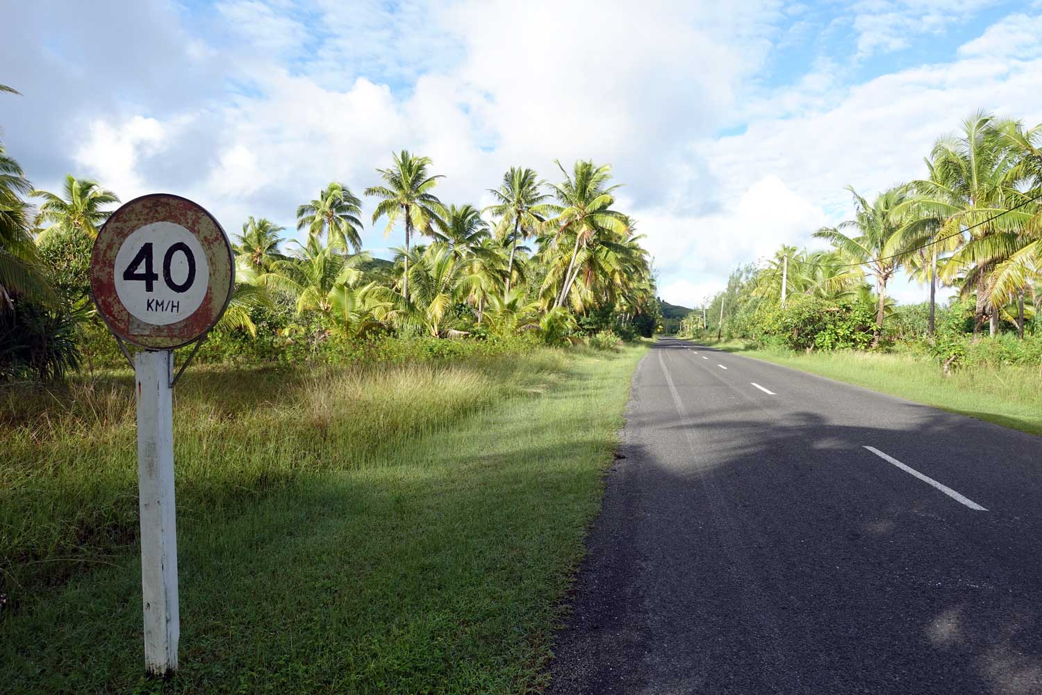 Aitutaki culture speed limit