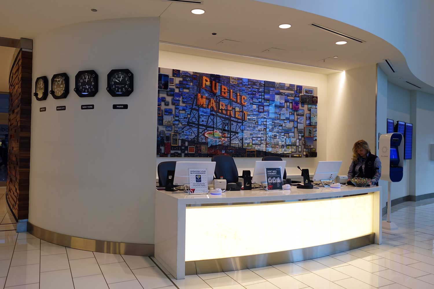 Delta Sky Club in Seattle concierge